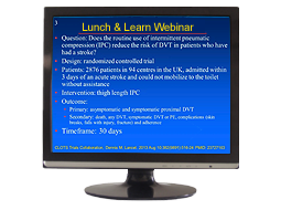 ACF Webinar shown on monitor